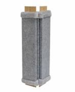 Когтеточка Дарэлл УГЛОВАЯ серый ковролин с пропиткой, 57*24*2см , 0.000