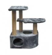 """Домик-когтеточка для крупных кошек Дарэлл """"Атос"""",угловой,с двумя (ДСП,мех игр.,джут,86*62*97см), 0.000"""