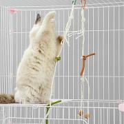 Кошачья приманка Интерактивный Дразнилки Подходит для домашних животных Мультфильм игрушки Меховой шар сизаль Назначение Коты
