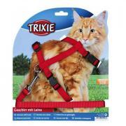 Шлейка+поводок для крупных кошек TRIXIE 13ммх34-57см