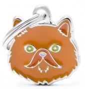Адресник для кошек My Family Friends Персидская кошка (2,5 х 2,5 см, Рыжий)