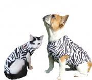 Функциональные попоны для маленьких собак и кошек (расцветка зебра)