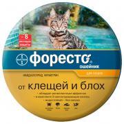 Ошейник для кошек против блох, власоедов, клещей Bayer Foresto серый, 38 см