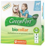 Ошейник для крупных собак против блох, клещей GreenFort NEO зеленый, 75 см
