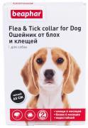 Ошейник для собак против блох, клещей Beaphar Flea & Tick черный, 65 см