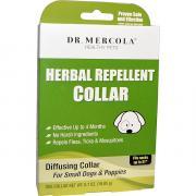 Dr. Mercola Растительный ошейник-репеллент Для маленьких собак & щенков Один ошейник 0.7 унции (19.85 г) Mcl-01638