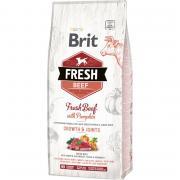 Корм для щенков Brit Fresh Говядина с тыквой для крупных пород сух. 12кг