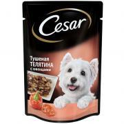 Корм для собак Cesar тушеная телятина с овощами пауч 100г