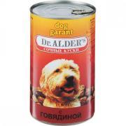 Корм для собак Dr. ALDER`s Дог Гарант сочные кусочки в соусе Говядина конс. 1230г