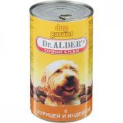 Корм для собак Dr. ALDER`s Дог Гарант сочные кусочки в соусе Курица, индейка конс. 1230г