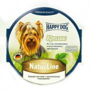 Корм для собак HAPPY DOG Нежный паштет Кролик конс. 85г
