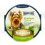 Корм для собак HAPPY DOG Нежный паштет Ягненок, рис конс. 85г
