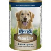 Корм для собак HAPPY DOG Ягненок с рисом нежный паштет конс. 400г