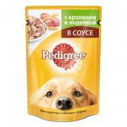 Корм для собак Pedigree Кролик, индейка конс. 100г