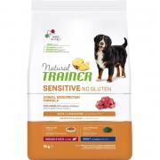 Корм для собак TRAINER Nat.Sensitive без глютена для средних и крупных пород, ягненок сух. 3кг