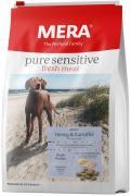 Сухой корм MERA PURE SENSITIVE ADULT FRESH MEAT HERING&KARTOFFEL для взрослых собак, с сельдью и картофелем, 4 кг
