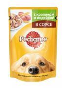 Pedigree влажный корм с кроликом и индейкой для взрослых собак 85 грамм