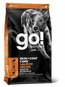 GO! Skin + Coat Salmon сухой корм для щенков и собак со свежим лососем и овсянкой (11.35 кг)