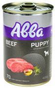 Aвва Premium консервы для щенков средних и крупных пород, с говядиной, 400 г