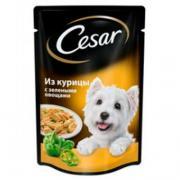 Корм для собак Cesar из курицы с зелеными овощами 100 гр