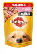 Pedigree желе с ягненком для взрослых собак 85 грамм