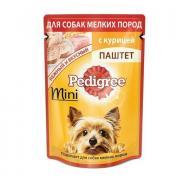 Pedigree влажный корм паштет с курицей для миниатюрных собак 80 грамм
