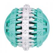 Игрушка для собак TRIXIE Мяч Dentafan резина, белый/зелёный 7.5см