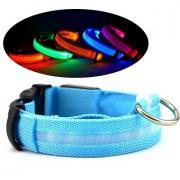 Ошейник для собак светящийся (Голубой L)
