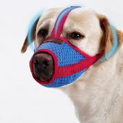 Собаки Намордники Компактность Мини Учебный Однотонный Сетка Красный