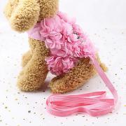 Собаки Коты Маленькие зверьки Ремни Поводки Прогулки Симпатичный и приятный Бант Цветы Бант Ткань Розовый