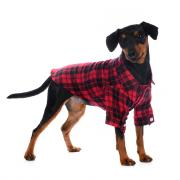 Petmax Рубашка M для собак в клетку красная
