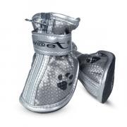 Ботинки для собак Triol, серебряные с лапками, размер 2
