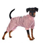 Petmax Костюм M для собак в полоску розовый