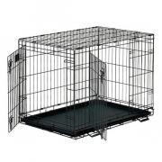 Клетка для животных MidWest Life Stage двухдверная черная 91х61х69см