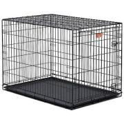 Клетка для животных MidWest iCrate однодверная чёрная 106х71х76см