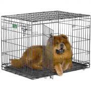 """Клетка для собак Midwest """"iCrate"""", 2 двери, цвет: черный, 91 х 58 х 64 см"""