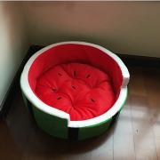 Собаки Коты Кровати Животные Коврики и подушки Фрукты Компактность Мягкий Зеленый Для домашних животных