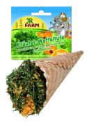 Лакомство для грызунов JR Farm Травы в вафельном рожке, 60г