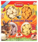 Лакомство для грызунов SANAL 4-Drops Pack, 140г