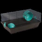 Клетка для грызунов Виктор черная с синими аксессуарами 50,5*28*21см Small Animals