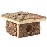 Домик для мелких животных из неокоренного дерева, 180*150*95мм