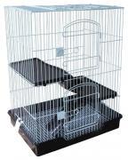 Клетка для крыс, мышей, хомяков Triol С5-1W, черно-белая, 77х46х61см