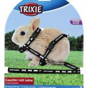 Шлейка для грызунов TRIXIE для крольчат 20-33см/8мм/1,25м нейлон с рисунком
