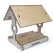 Кормушка для птиц сборная, собирается без клея, 19х20х16см, набор для детского творчества (Декор интерьера)