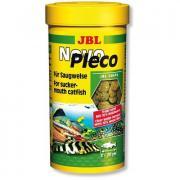 Корм для рыб JBL NovoPleco Водорослевые чипсы с примесью целлюлозы для кольчужных сомов, 250мл