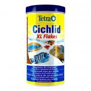 Корм для рыб TETRA Cichlid XL Flakes для для всех видов цихлид, крупные хлопья 1000мл