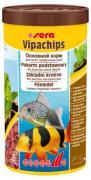 Основной корм Sera VIPACHIPS для придонных рыб, чипсы 1000 мл