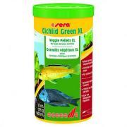 Основной корм Sera CICHLID GREEN XL для крупных растительноядных цихлид, гранулы 1 л