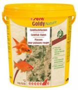 Основной корм Sera GOLDY NATURE для рыб, хлопья 21 л