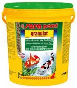 Корм основной Sera Pond BIOGRANULAT для крупных прудовых рыб, гранулы 21 л